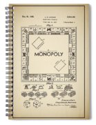 Monopoly Patent 1935 Vintage Border Spiral Notebook