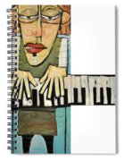 Monsieur Keys Spiral Notebook