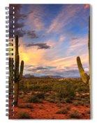 Monsoon Desert Sunset  Spiral Notebook
