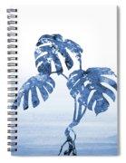 Monstera Leaf-blue Spiral Notebook