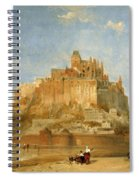 Mont St Michel From The Sands By David Roberts Spiral Notebook