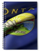 Montana State Flag Spiral Notebook
