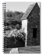 Montauk Guard House 2 B W Spiral Notebook