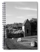 Montauk Guard House B W Spiral Notebook