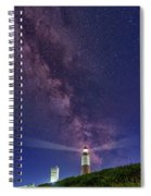 Montauk Point And The Milky Way Spiral Notebook
