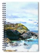 Montauk Point Light Spiral Notebook