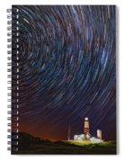 Montauk Star Trails Spiral Notebook