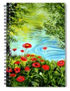 Monte Rio Poppies Spiral Notebook