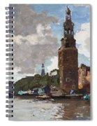 'montelbaanstoren' In Amsterdam By Cornelis Vreedenburgh Dutch 1880-1946 Spiral Notebook