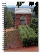 Monticello Vegetable Garden Pavilion Spiral Notebook