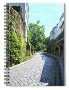 Montmarte Paris Cobblestone Streets Spiral Notebook