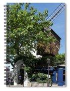 Montmarte Paris Windmill Spiral Notebook