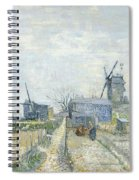 Montmartre   Mills And Vegetable Gardens Spiral Notebook