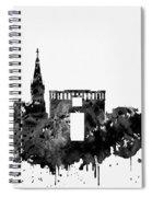 Montpellier Skyline-black Spiral Notebook