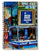 Montreal City Paintings By Streetscene Specialist Carole Spandau  Over 500 Prints Available Spiral Notebook