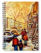 Montreal City Scene In Winter Spiral Notebook
