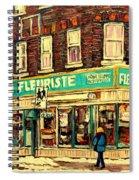 Montreal Cityscenes By Streetscene Artist Carole Spandau Spiral Notebook