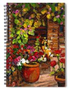 Montreal Cityscenes Homes And Gardens Spiral Notebook