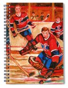 Montreal Forum Hockey Game Spiral Notebook