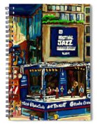 Montreal Jazz Festival Arcade Spiral Notebook