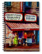 Montreal Paintings  Available For Fundraisers By Streetscene  Artist Carole Spandau  Spiral Notebook
