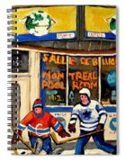 Montreal Poolroom Hockey Fans Spiral Notebook
