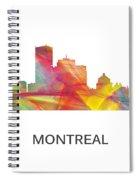Montreal Que.skyline Spiral Notebook