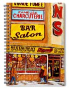 Montreal Smoked Meat Dunns Restaurant Spiral Notebook