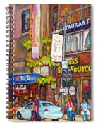 Montreal St.catherine Street Corner Peel Spiral Notebook