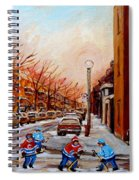 Montreal Street Hockey Game Spiral Notebook