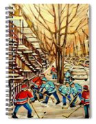 Montreal Street Hockey Paintings Spiral Notebook