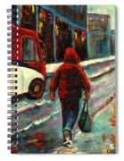 Montreal Streets Winter Morning Spiral Notebook