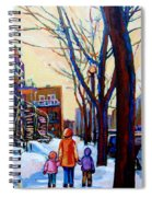 Montreal Winter Spiral Notebook