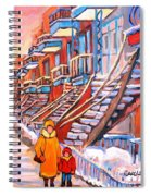Montreal Winter Walk Spiral Notebook