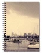 Montrose Harbor Skyline Spiral Notebook