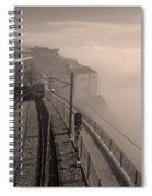 Montserrat Winter Morning Bw Spiral Notebook