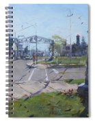 Monument At Pine Ave And Portage Rd Spiral Notebook