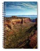 Monument Canyon And Saddlehorn Spiral Notebook