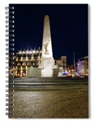 Monument On The Dam In Amsterdam Netherlands At Night Spiral Notebook