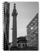 Monument To The Great Fire Of London Bw Spiral Notebook