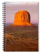 Monument Valley Sunset Panorama Spiral Notebook