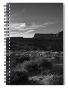 Monument Valley View - Black And White Spiral Notebook