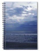 Moody Blue Beach Spiral Notebook