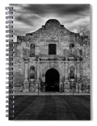 Moody Morning At The Alamo Bw Spiral Notebook