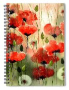 Moody Poppies In The Afternoon Spiral Notebook