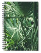 Moody Tropical Leaves Spiral Notebook