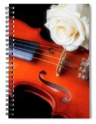 Moody Violin And Rose  Spiral Notebook