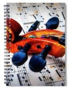 Moody Violin Scroll On Sheet Music Spiral Notebook
