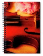 Moody Violin With Peonies Spiral Notebook