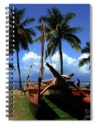 Moolele Canoe At Hui O Waa Kaulua Lahaina Spiral Notebook
